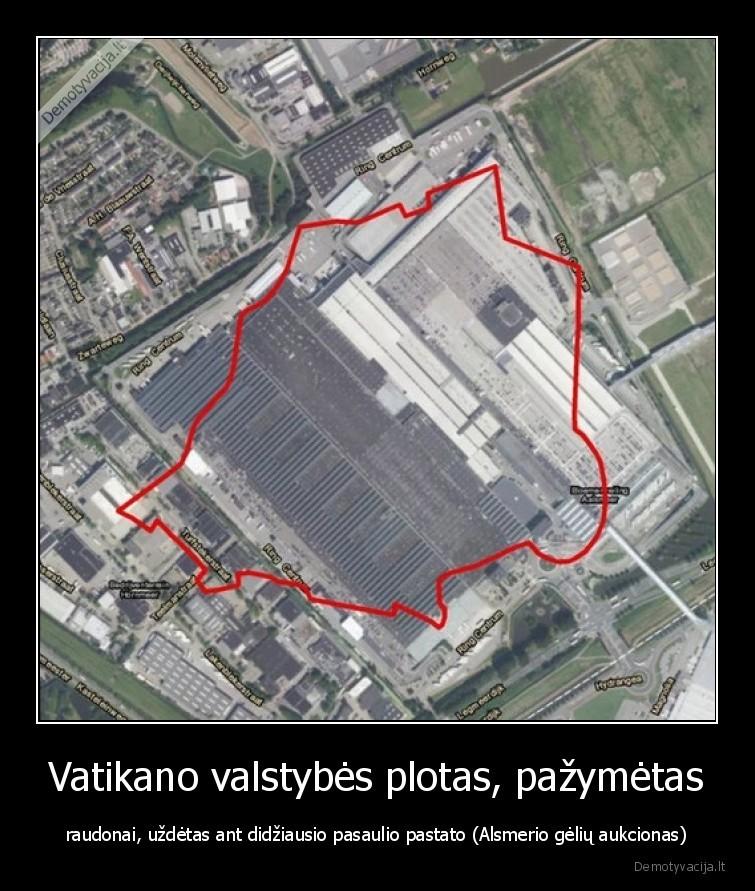Vatikano valstybes plotas pazymetas raudonai uzdetas ant didziausio pasaulio pastato Alsmerio geliu aukcionas