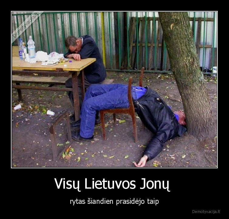 Visu Lietuvos Jonu rytas siandien prasidejo taip