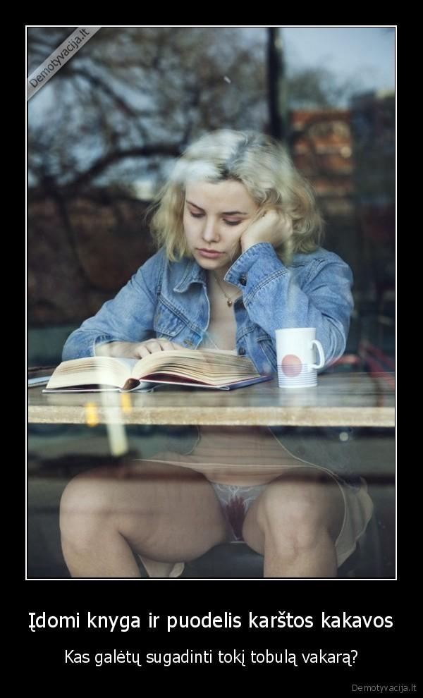 Idomi knyga ir puodelis karstos kakavos Kas galetu sugadinti toki tobula vakara