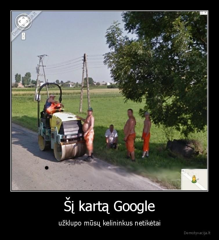 Si karta Google uzklupo musu kelininkus netiketai
