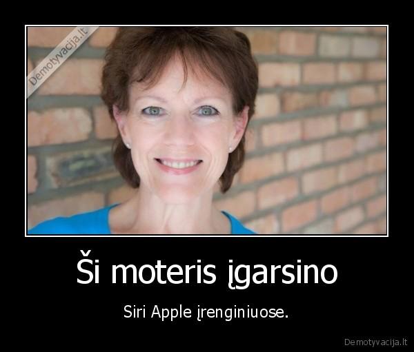 Si moteris igarsino Siri Apple irenginiuose