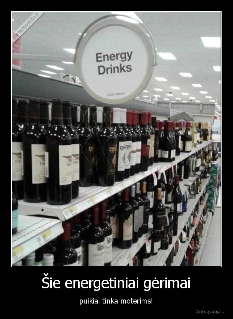 Sie energetiniai gerimai puikiai tinka moterims