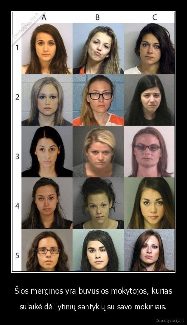 Sios merginos yra buvusios mokytojos kurias sulaike del lytiniu santykiu su savo mokiniais