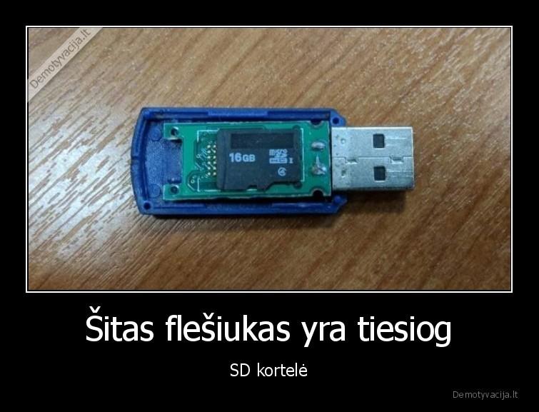 Sitas flesiukas yra tiesiog SD kortele