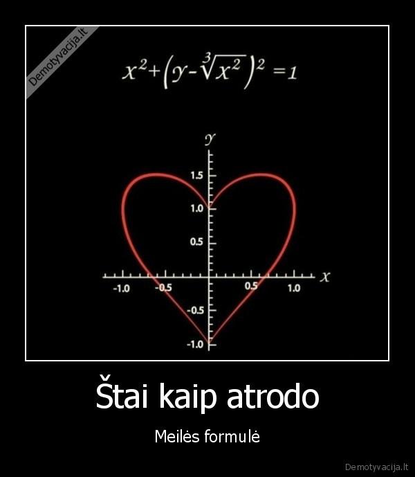 Stai kaip atrodo Meiles formule