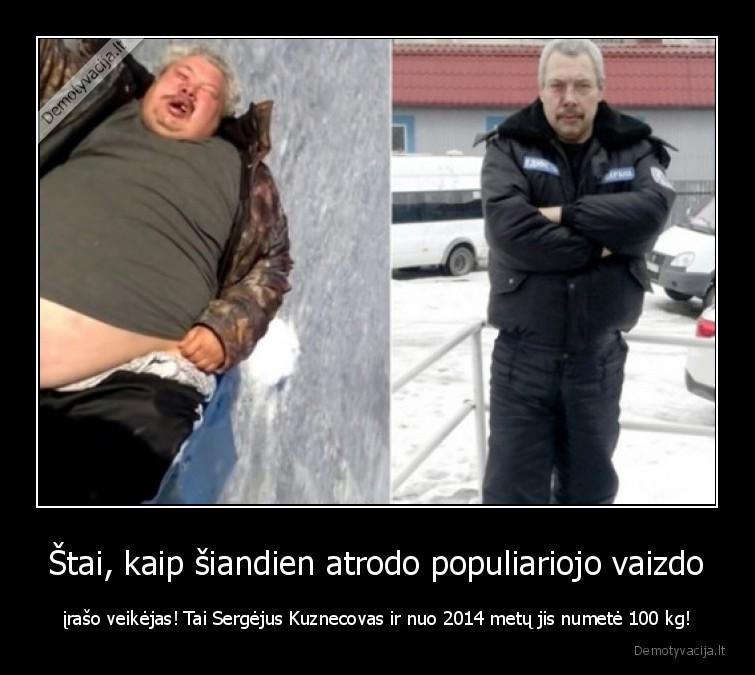 Stai kaip siandien atrodo populiariojo vaizdo iraso veikejas Tai Sergejus Kuznecovas ir nuo 2014 metu jis numete 100 kg