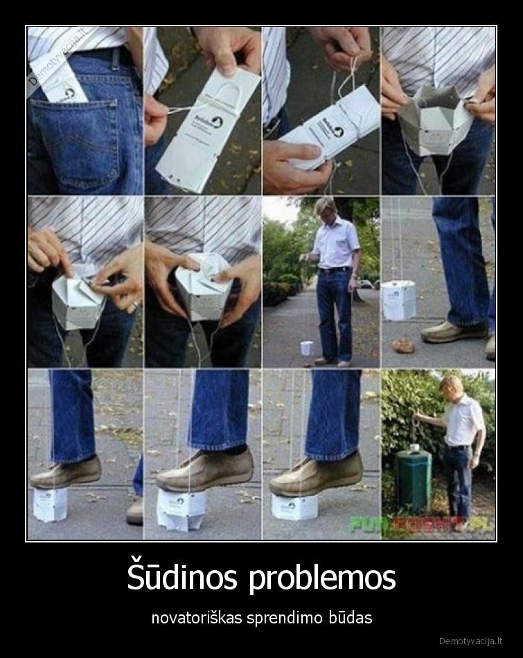 Sudinos problemos novatoriskas sprendimo budas
