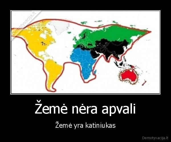 Zeme nera apvali zeme yra katiniukas