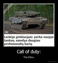 Call of duty: - The Wilno.