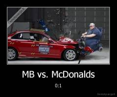 MB vs. McDonalds - 0:1