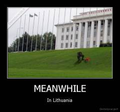 MEANWHILE - In Lithuania